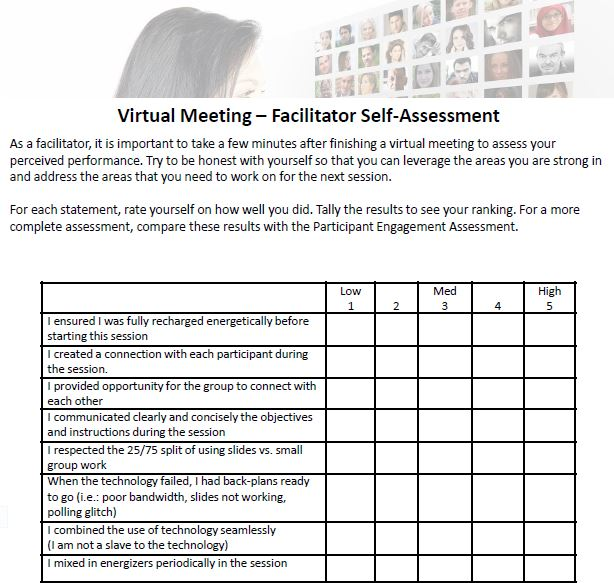 Facilitator Assessment tool Michaeal Wallace