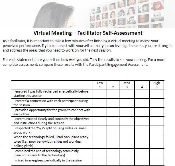 Facilitator Assessment tool Michaeal Wallace